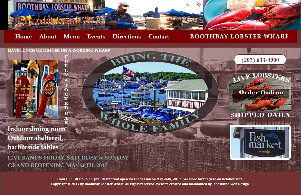 Boothbay Lobster Wharf Screen Shot